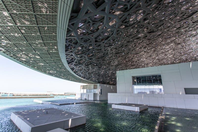Binnenland van Abu Dhabi Louvre in Abu Dhabi, Verenigde Arabische Emiraten royalty-vrije stock foto's