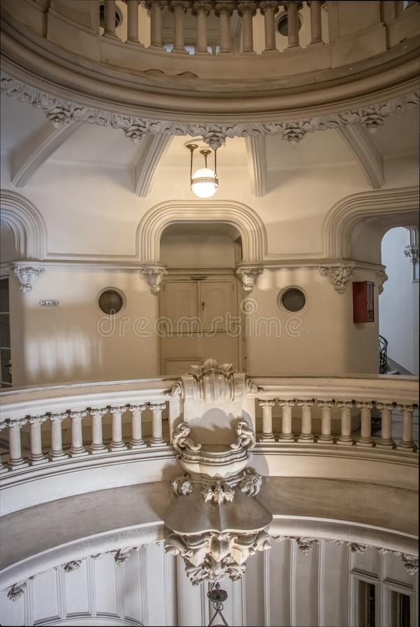 Binnenland van Barolo-Paleis - Buenos aires, Argentinië royalty-vrije stock afbeelding