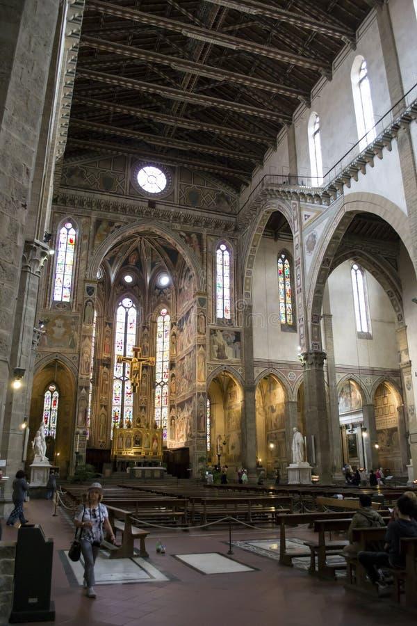 Binnenland van Basiliek Santa Croce royalty-vrije stock foto's