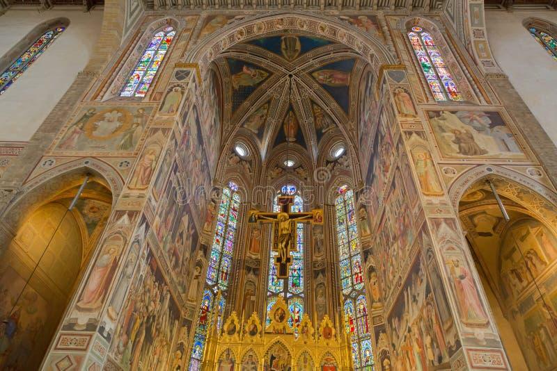 Binnenland van Basiliek van het Heilige Kruis & x28; Basiliekdi Santa Croce & x29; royalty-vrije stock foto's