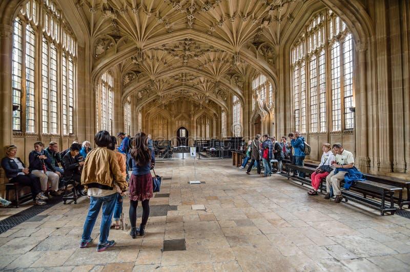 Binnenland van Bodleian-Bibliotheek royalty-vrije stock fotografie