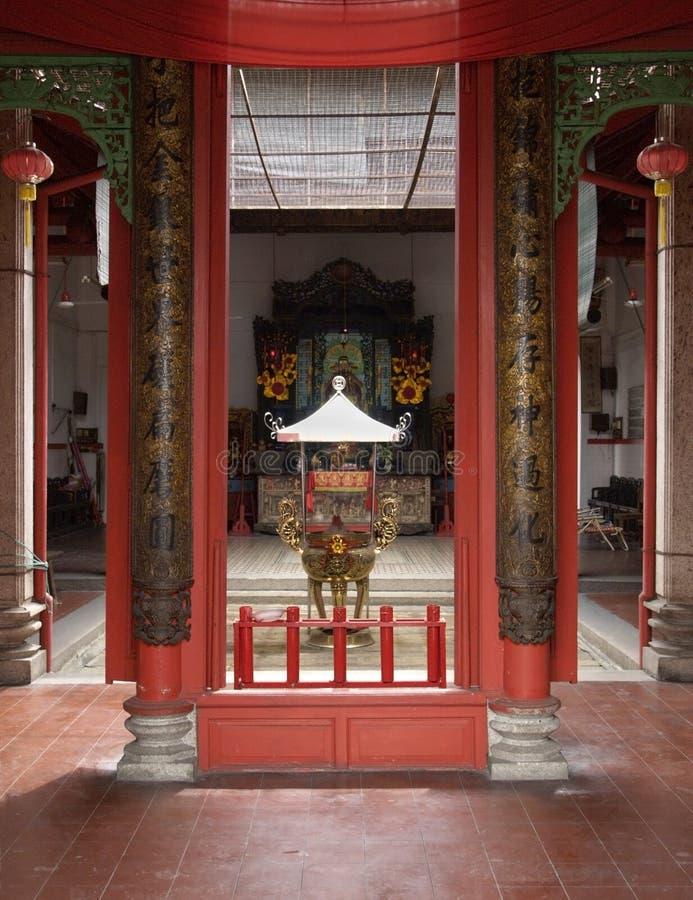 Binnenland van Chinese tempel royalty-vrije stock fotografie