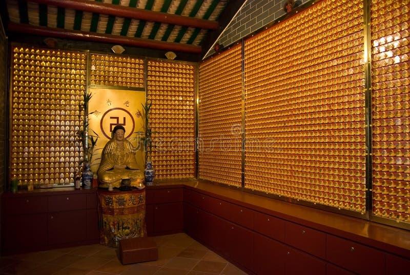 Binnenland van Chinese tempel stock fotografie