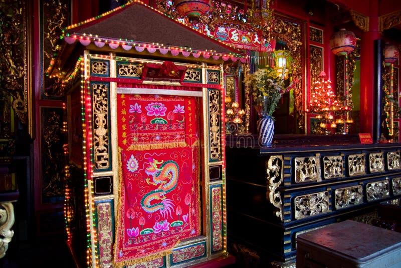 Binnenland van Chinese tempel in Vietnam stock afbeeldingen