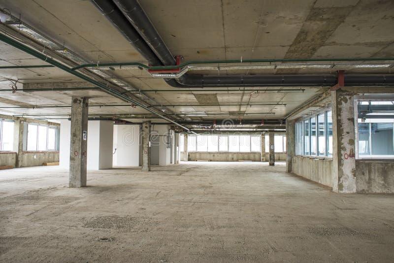 Binnenland van commercieel centrum in aanbouw royalty-vrije stock foto's