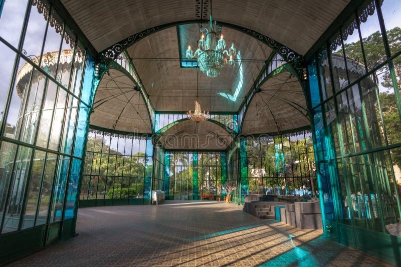 Binnenland van Crystal Palace of Palacio DE Cristal - Petropolis, Rio de Janeiro, Brazilië royalty-vrije stock fotografie