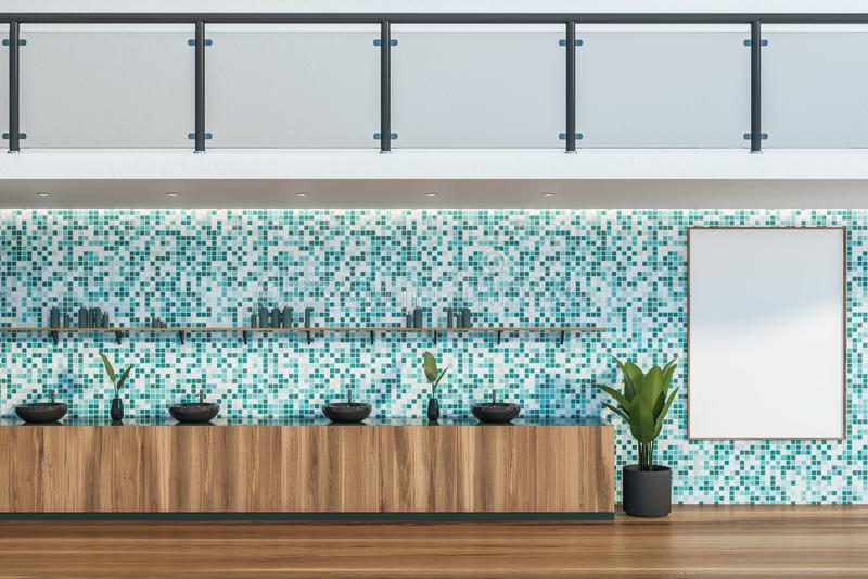 Binnenland van de badkamers van het luxehotel met gootstenen stock illustratie