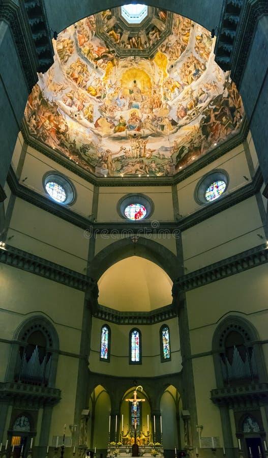 Binnenland van de Basiliek van Santa Maria del Fiore in Florence royalty-vrije stock afbeeldingen