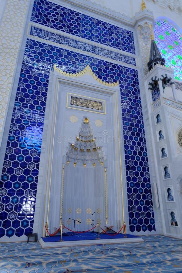 Binnenland van de Camlica-Moskee van Moskeecamlica stock foto's