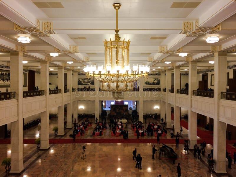 Binnenland van de Grote Zaal van Mensen in Peking royalty-vrije stock fotografie
