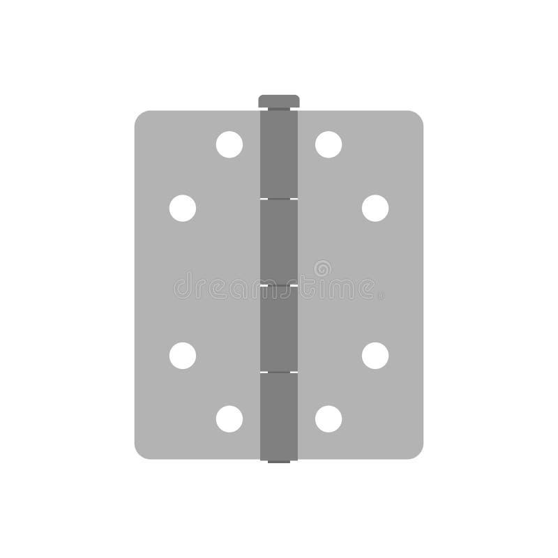 Binnenland van de het ontwerp isoleerde het voormuur van de deurscharnier witte installatie Vector dubbel de poorthuis van de pic royalty-vrije illustratie