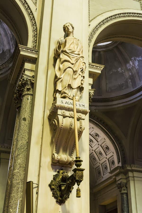 Binnenland van de kathedraal van Palermo in Sicilië, Italië stock foto