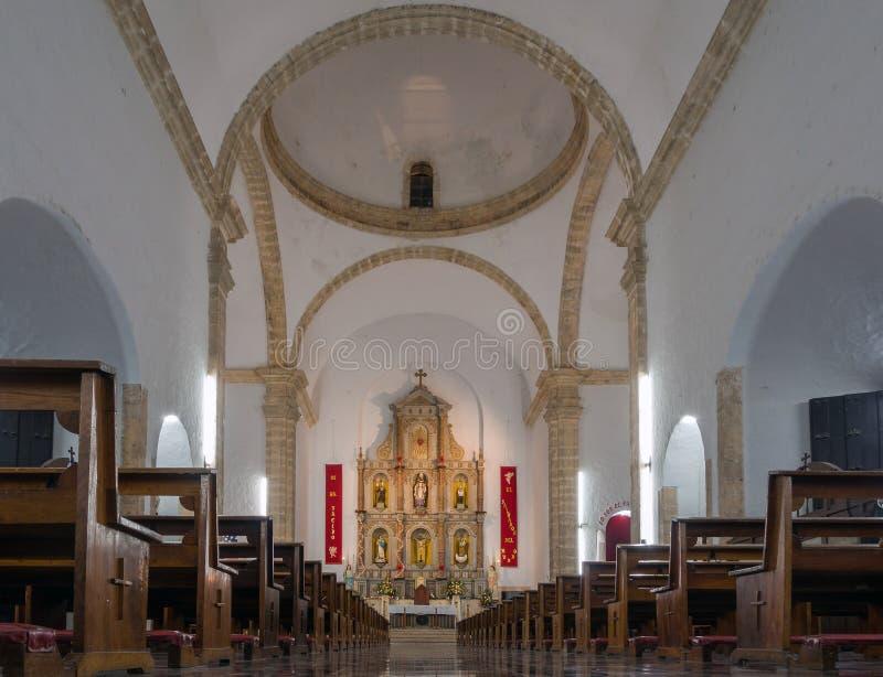 Binnenland van de kathedraal van San Gervasio in Valladolid stock afbeelding