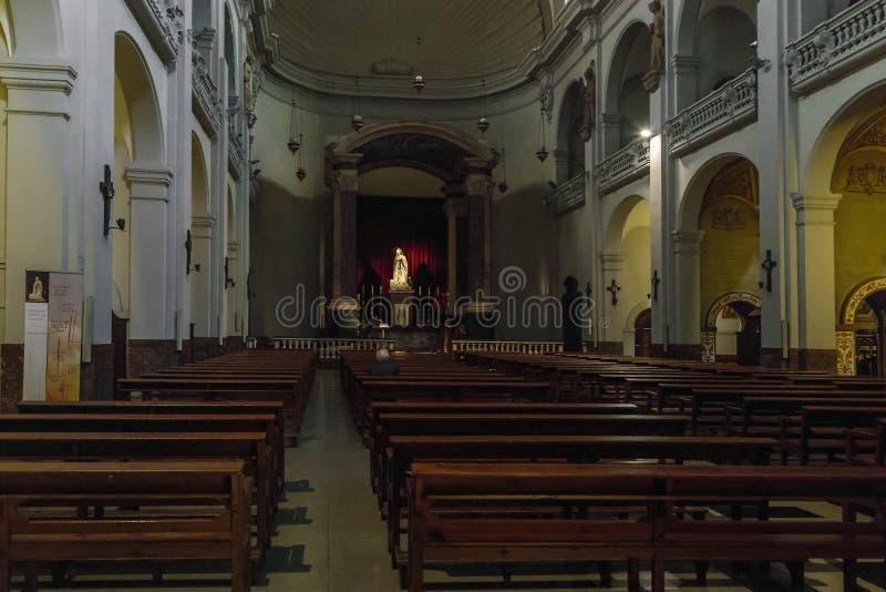 Binnenland van de Kerk van Onze Dame van Bethlehem, Barcelona royalty-vrije stock foto's