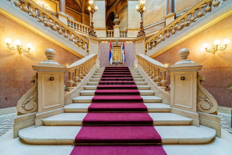 Binnenland van de klassieke bouw royalty-vrije stock foto's
