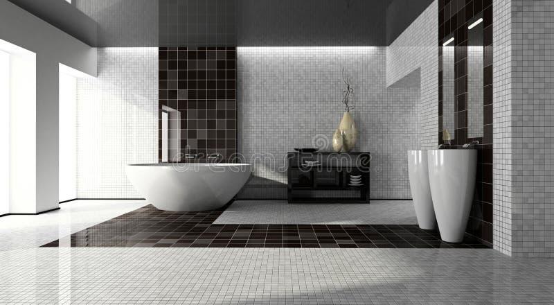 Binnenland van de moderne 3D badkamers vector illustratie