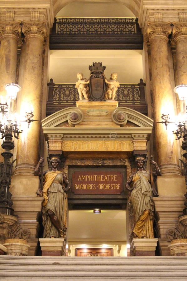 Binnenland van de Opera van Parijs royalty-vrije stock foto's