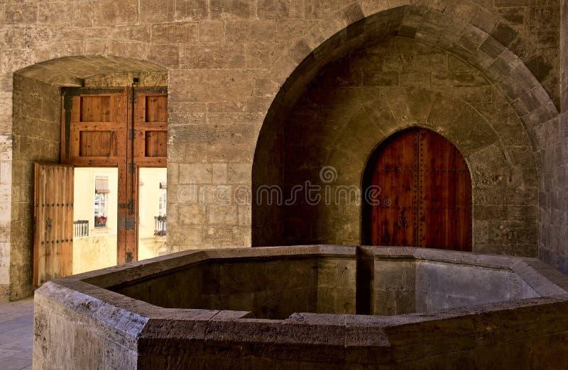 Binnenland van de toren van Kwart gallon in Valencia stock afbeelding
