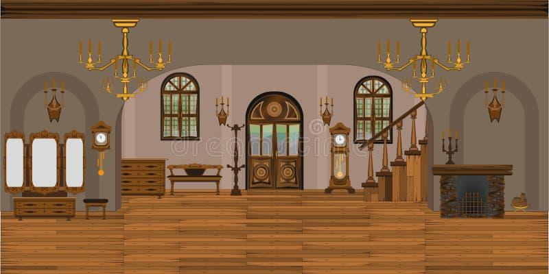 Binnenland van de woonkamer stock illustratie