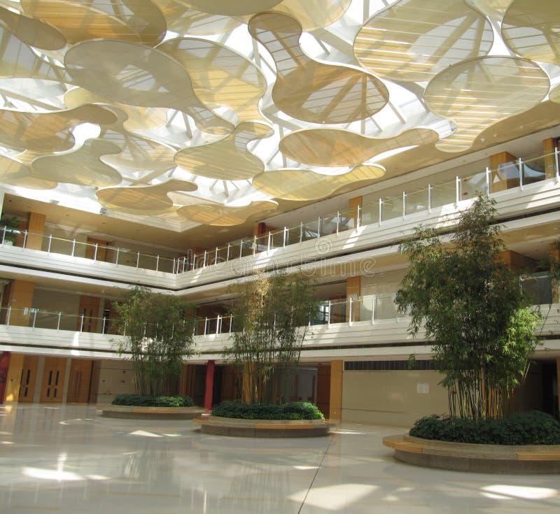 Binnenland van de zaal voor opleiding en conferenties royalty-vrije stock afbeeldingen