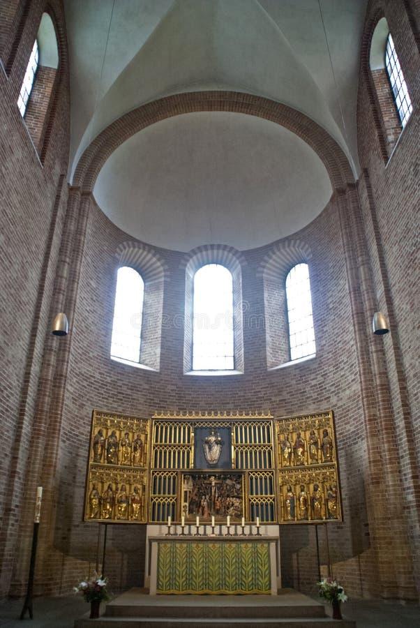 Binnenland van Dom van Ratzeburg royalty-vrije stock afbeeldingen