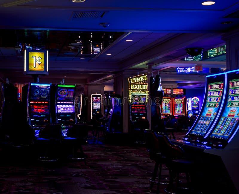 Binnenland van een casino stock afbeelding