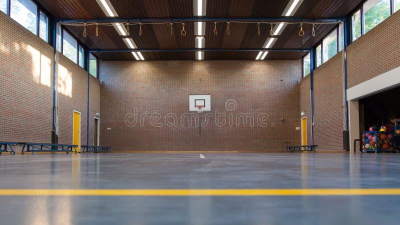 Binnenland van een gymnastiek op school royalty-vrije stock foto