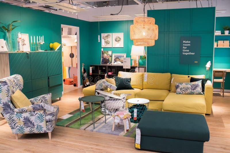 Binnenland van een Ikea-opslag royalty-vrije stock foto's