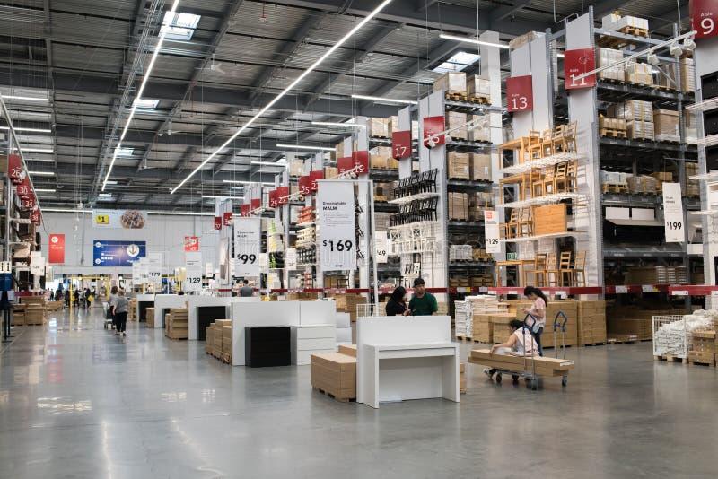 Binnenland van een Ikea-opslag royalty-vrije stock afbeelding