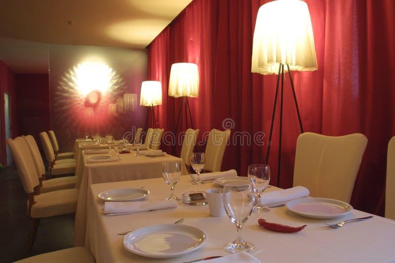 binnenland van een restaurant stock foto