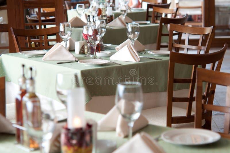 Binnenland van een restaurant royalty-vrije stock afbeeldingen