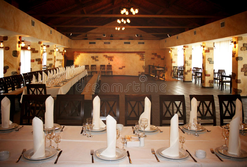 Binnenland van een restaurant royalty-vrije stock foto