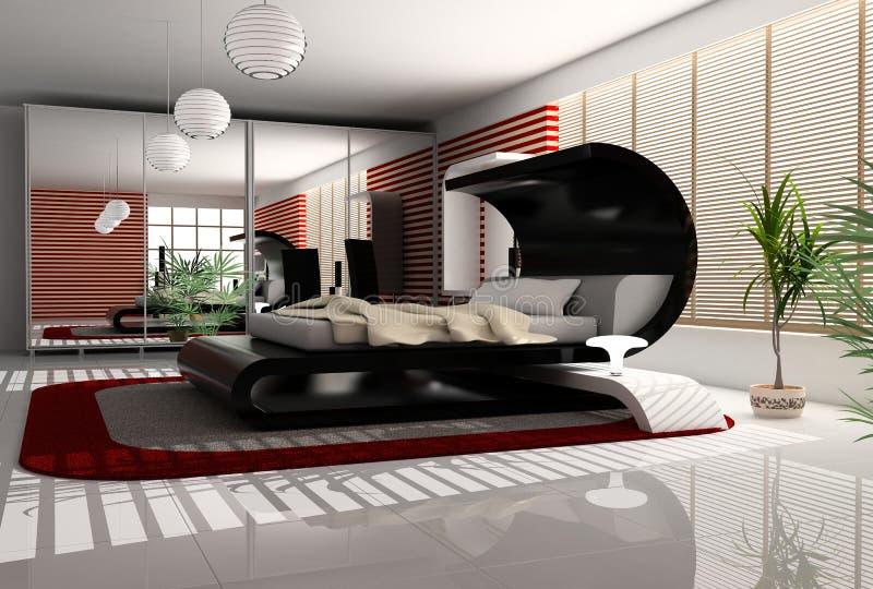 Binnenland van een slaapkamer stock illustratie