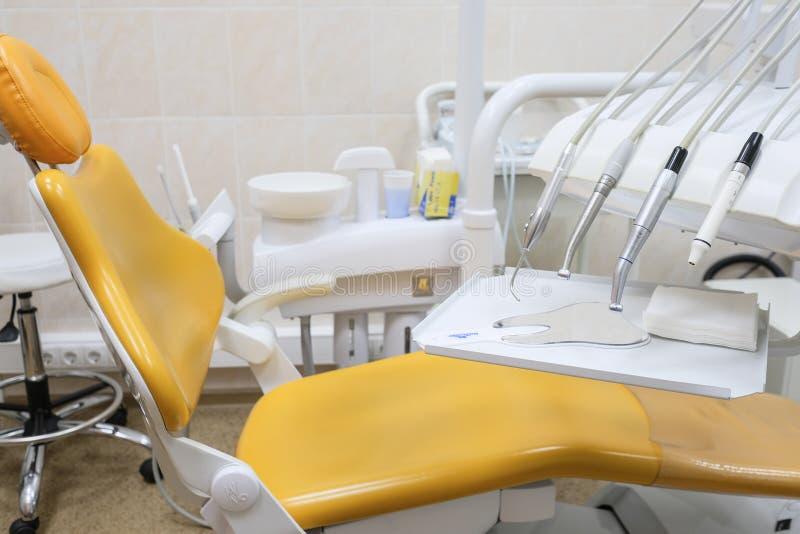 Binnenland van een stomatologic kliniek stock afbeeldingen