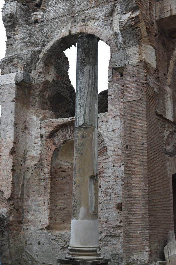 Binnenland van Grands het Badhuis van Therme van de Villa van Hadrian ` s, Tivoli royalty-vrije stock afbeelding