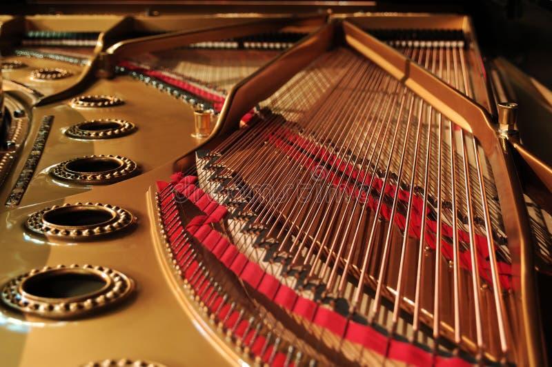 Binnenland van grote piano royalty-vrije stock afbeeldingen