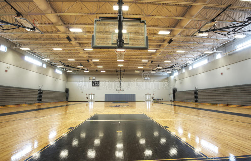 Binnenland van Gymnasium stock foto