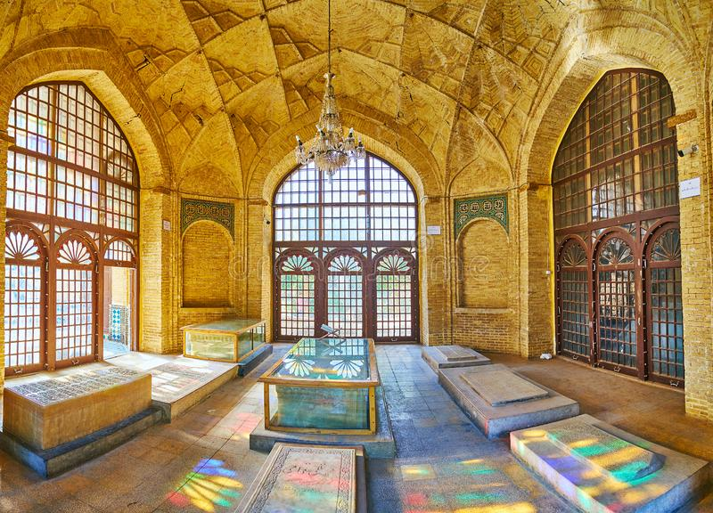 Binnenland van Hafezieh, Shiraz, Iran royalty-vrije stock foto