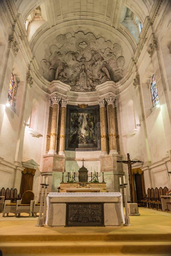Binnenland van Heiligdom van Fatima, Estremadura, Portugal royalty-vrije stock afbeelding