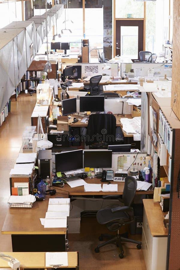 Binnenland van het Bureau van de Lege Architect royalty-vrije stock afbeelding
