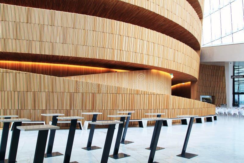 Binnenland van het de Operahuis van Oslo, Noorwegen royalty-vrije stock foto