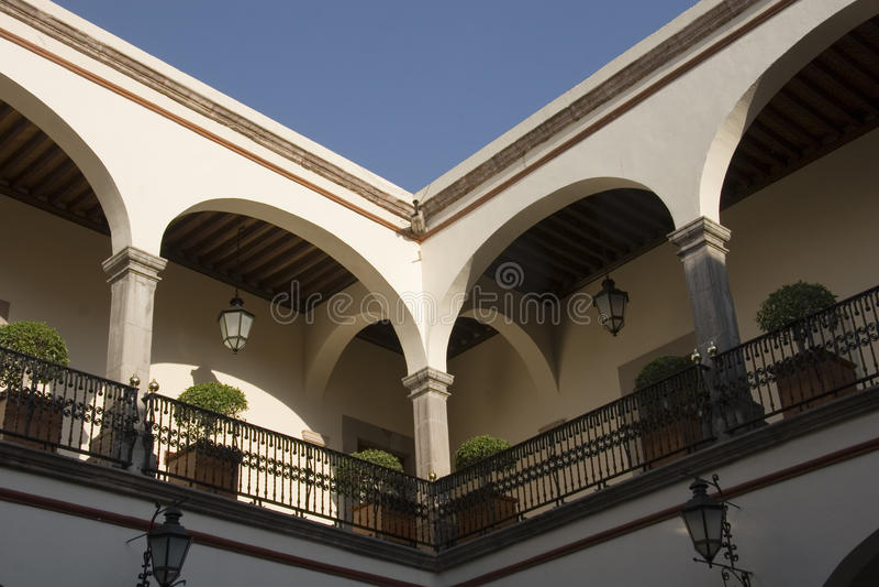 Binnenland van het huis van corregidora royalty-vrije stock fotografie