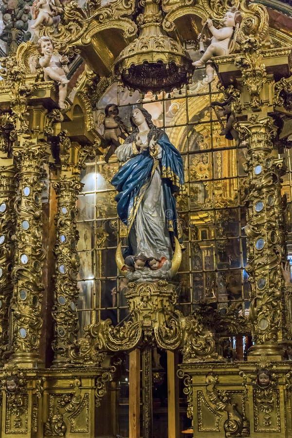 Binnenland van het Kartuizer Klooster in Granada, Spanje stock foto's