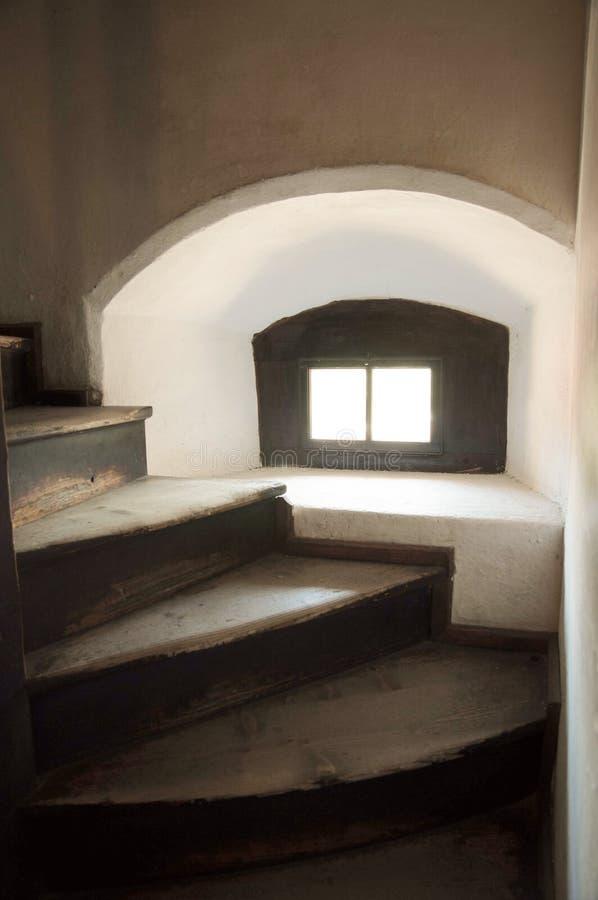 Binnenland van het Kasteel van het Kasteelzemelen van Dracula ` s stock afbeeldingen