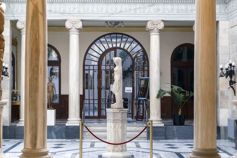 Binnenland van het Koninklijke Casino in Murcia, Spanje stock foto