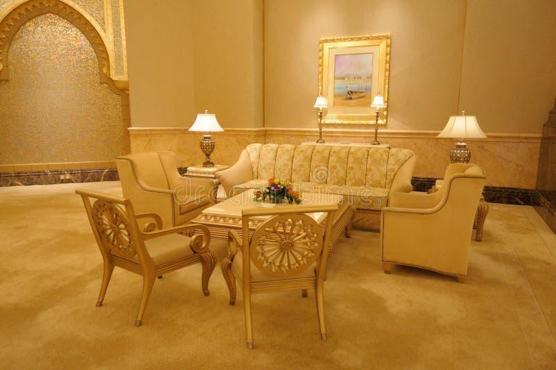 Binnenland van het Paleis van Emiraten royalty-vrije stock foto's