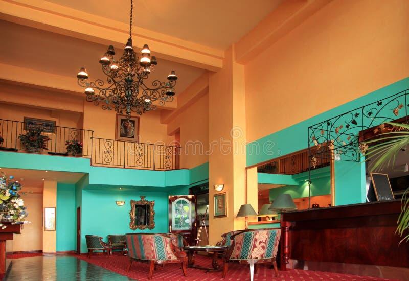 Binnenland van hotel stock foto