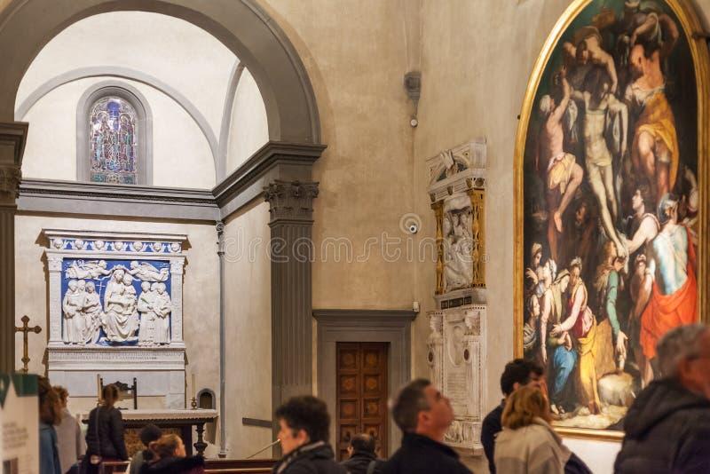 Binnenland van kapel van Basiliekdi Santa Croce royalty-vrije stock foto's