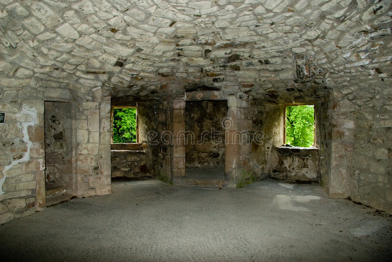 Binnenland van Kasteel Huntly stock foto's