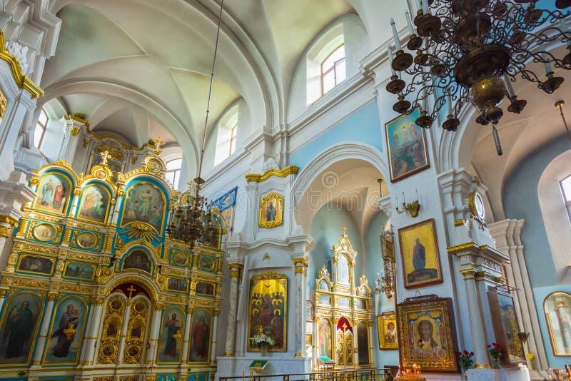 Binnenland van Kathedraal van Heilige Geest in Minsk - royalty-vrije stock foto